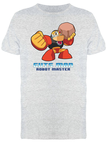 Mega Man Classic Videogame Guts Man Rock Ball Men's T-shirt