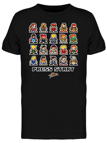 Street Fighter Press Start Tee Men's -Capcom Designs