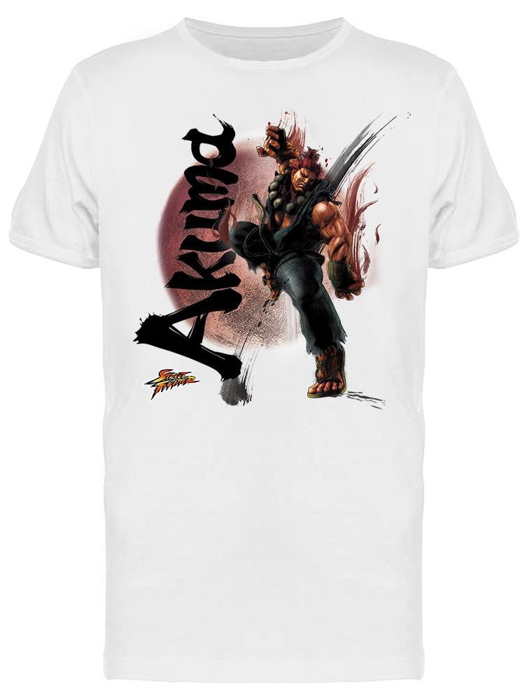 Street Fighter Akuma Character Tee Men's -Capcom Designs