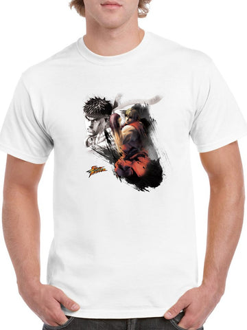 Street Fighter Ryu Ken Tee Men's -Capcom Designs