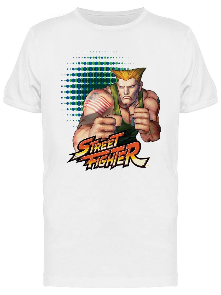 Street Fighter Guile Character Tee Men's -Capcom Designs