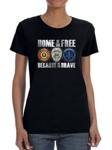 Free, Thanks To The Brave Women's T-shirt