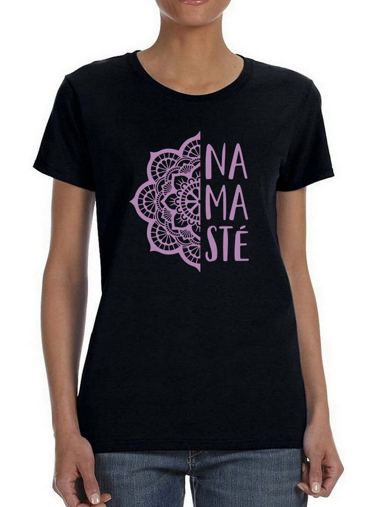 Violet Namaste And Mandala Women's T-Shirt