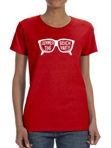 Summer Time, Beach Party Glasses Women's T-Shirt