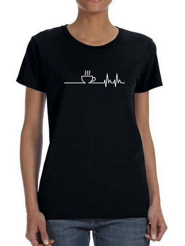 The Heartbeat Of A Coffee Lover Women's T-Shirt