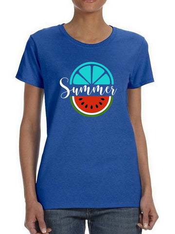Summer With Tropical Fruits Women's T-Shirt