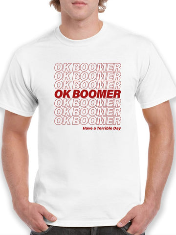 Plastic Bag Design Ok Boomer Men's T-Shirt