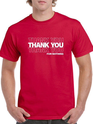 Thanks For Nothing, Plastic Bag Men's T-Shirt