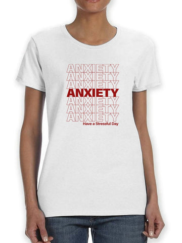 Plastic Bag Anxiety Design  Women's T-Shirt