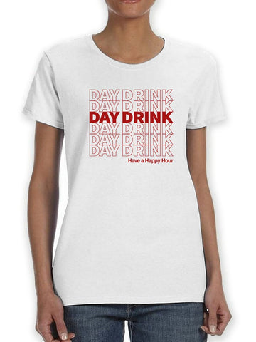 Day Drink Plastic Bag Design Women's T-Shirt