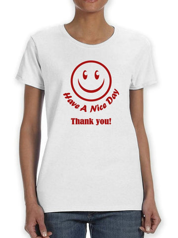 Plastic Bag Happy Face Nice Day Women's T-Shirt