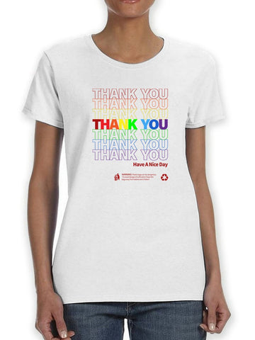 Thank You Plastic Bag Pride Women's T-Shirt