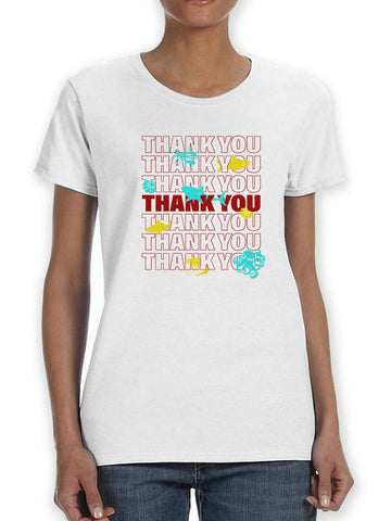 Thank You Plastic Bag Animals Women's T-Shirt