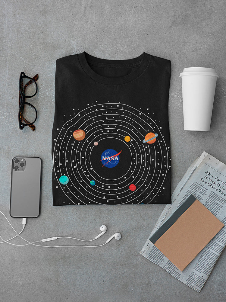 Nasa Solar System Tee Men's -NASA Designs