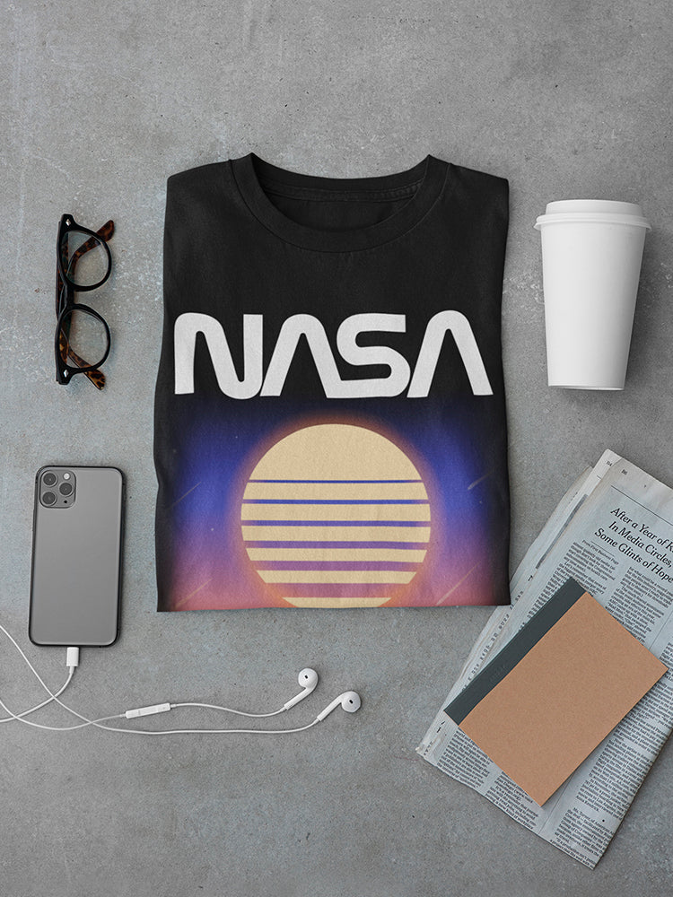 Nasa Geometric Sunset Men's T-shirt