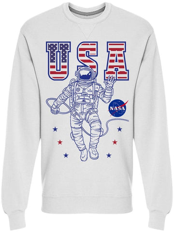 Nasa Astronaut Usa Men's Sweatshirt