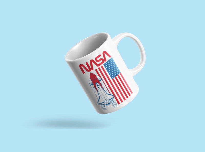 Nasa Rocket And American Flag Mug Unisex's -NASA Designs