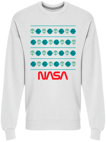 NASA Alien And Planets Winter Pattern Graphic Men's Sweatshirt