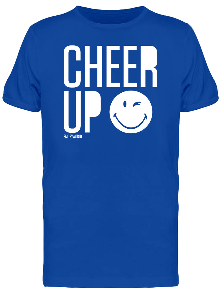 SmileyWorld Cheer Up Wink Face Men's T-shirt