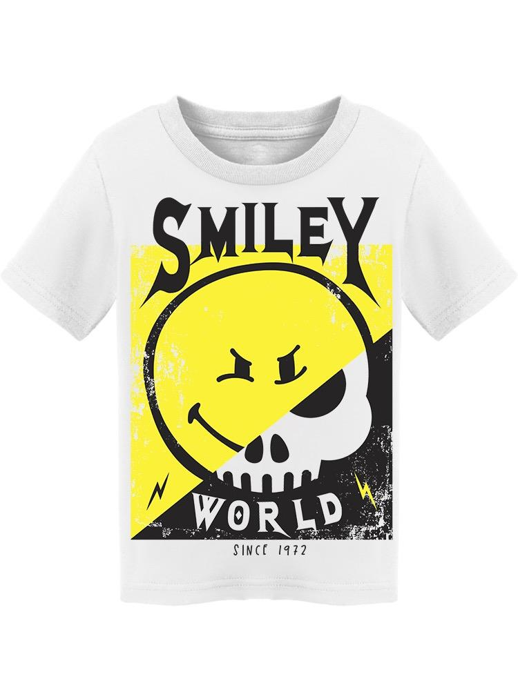 SmileyWorld Cool Happy Face With Skull Toddler's T-shirt