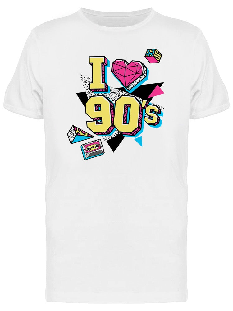 I Love 90S With Icons Tee Men's -Image by Shutterstock