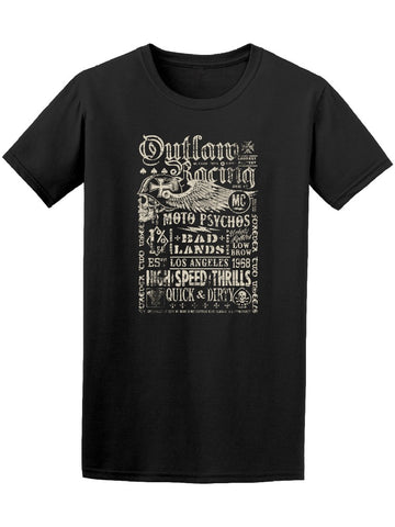 Outlaw Racing Vintage Poster Tee Men's -Image by Shutterstock