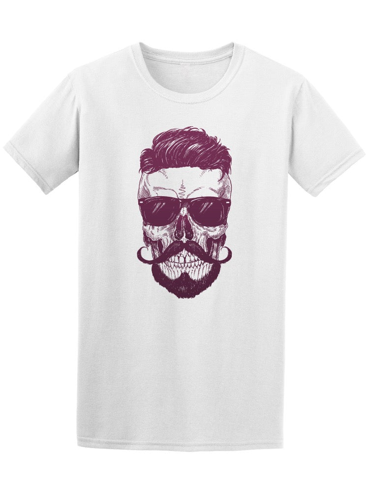 Cool Hipster Skull With Glasses Tee Men's -Image by Shutterstock