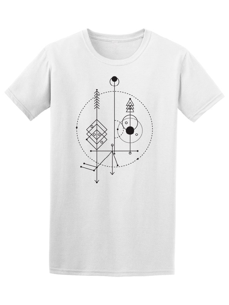 Sacred Geometry Symbols Tee Men's -Image by Shutterstock
