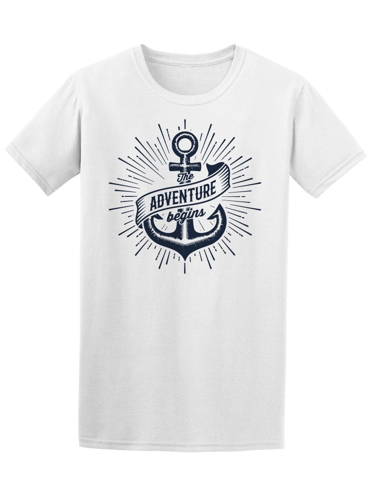 The Adventure Begins Anchor Tee Men's -Image by Shutterstock
