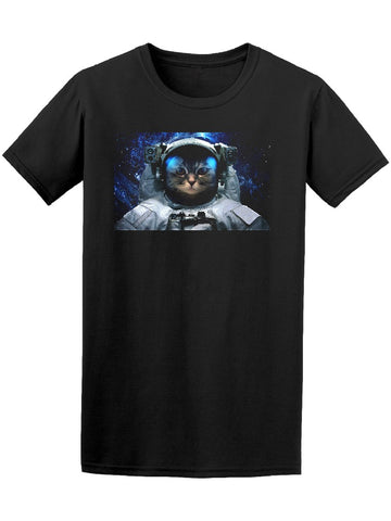 Astronaut Space Cat Galaxy Tee Men's -Image by Shutterstock