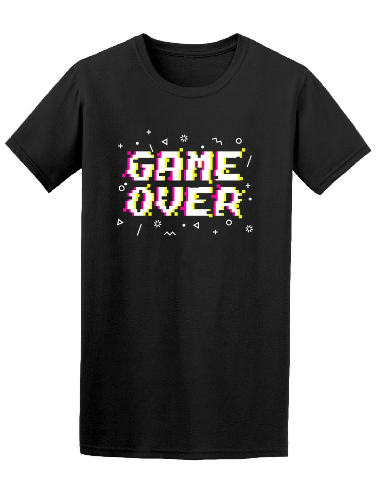 Game Over Pixelated Retro Quote Tee Men's -Image by Shutterstock