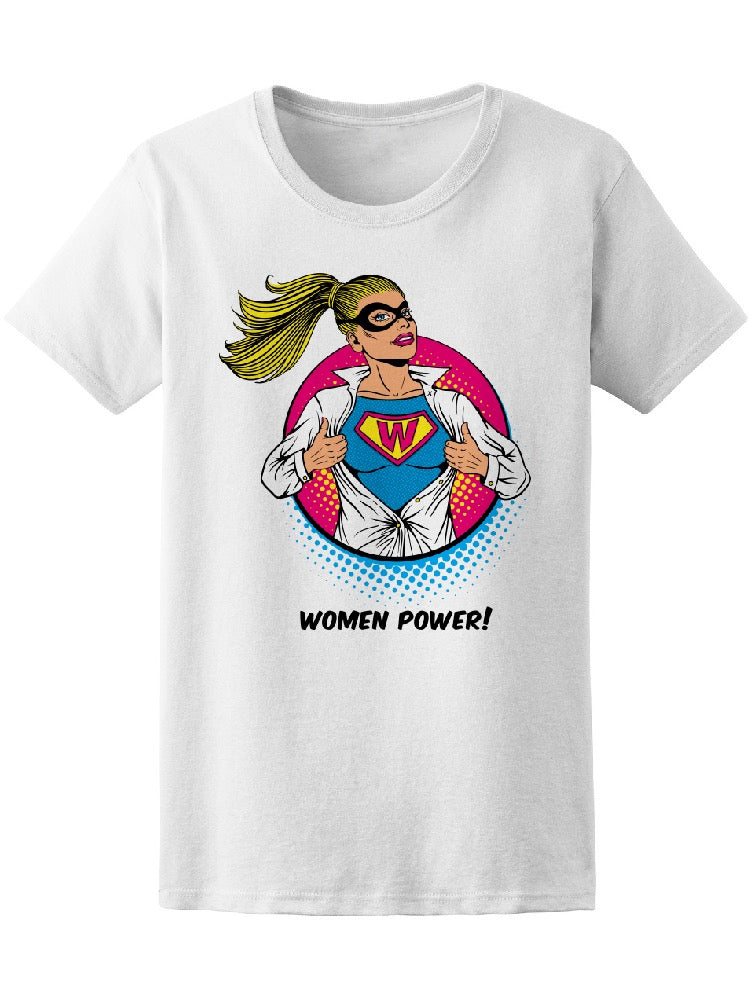 Pop Art Women Power Superhero Tee Women's -Image by Shutterstock