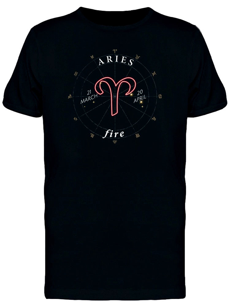 Zodiac Sign Aries Fire Tee Men's -Image by Shutterstock