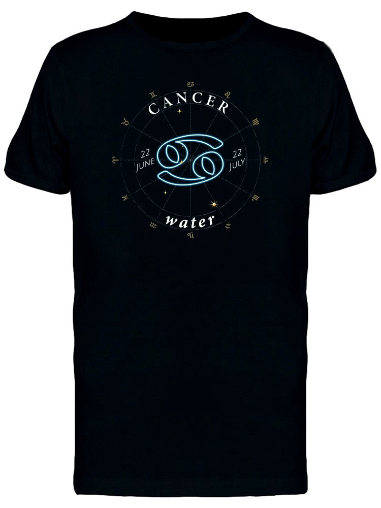 Zodiac Sign Cancer Water Tee Men's -Image by Shutterstock