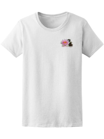 Cute Lotus Flower At Left Chest Tee Women's -Image by Shutterstock