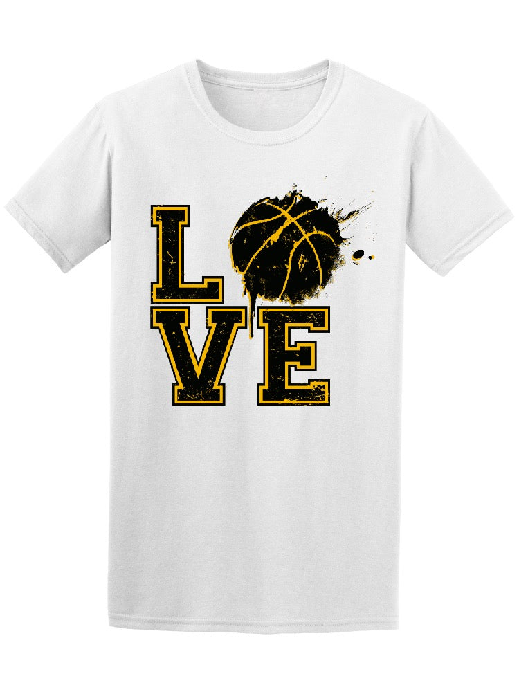 Grunge Yellow Love Basketball Tee Men's -Image by Shutterstock