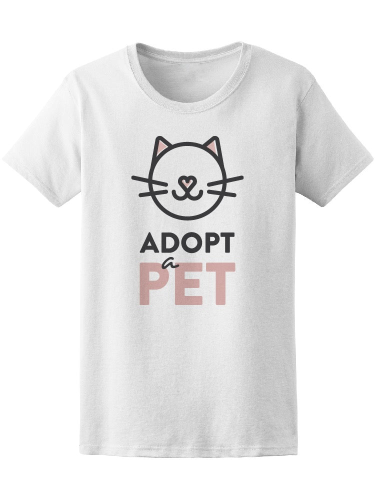 Adopt A Pet Cute Kitty Cat Tee Women's -Image by Shutterstock