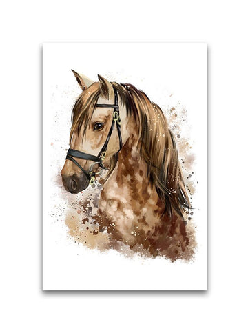 Watercolor Portrait Of Horse Poster -Image by Shutterstock