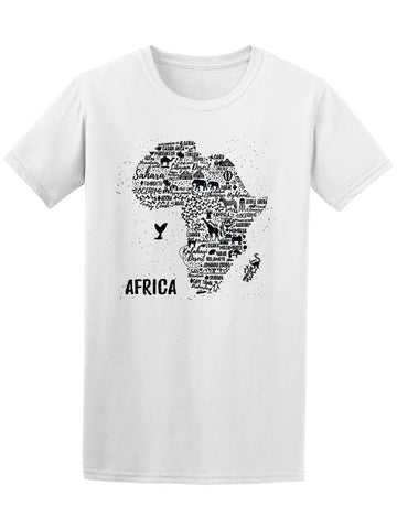 Africa Map With Animals Tee Men's -Image by Shutterstock