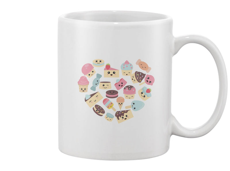 Cute Sweets And Candy Mug -Image by Shutterstock