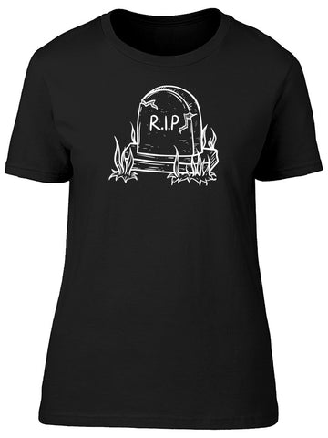 Hand Drawn Of Creepy  Tombstone  Tee Men's -Image by Shutterstock