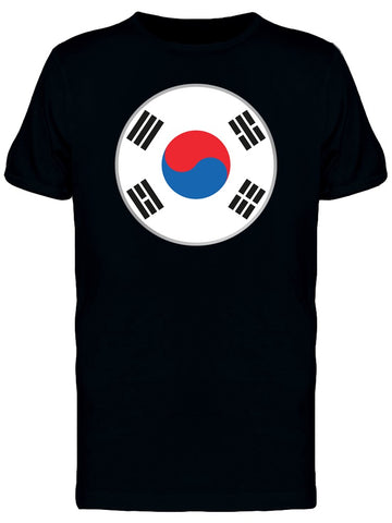 Cool South Korea Circle Flag Tee Men's -Image by Shutterstock