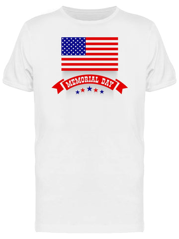 Usa Memorial Day Flag Doodle Tee Men's -Image by Shutterstock