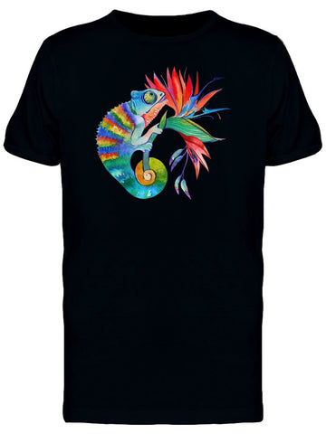 Chameleon On Flower Tee Men's -Image by Shutterstock