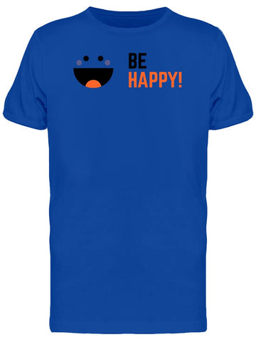 Be Happy Emoji Silhouette Tee Men's -Image by Shutterstock