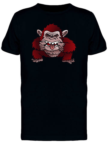 Red Monkey Funny Face Tee Men's -Image by Shutterstock