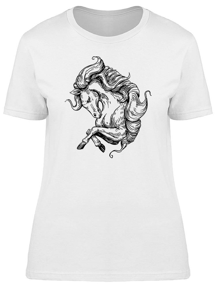 Horse Hand Drawn Sketch Tee Women's -Image by Shutterstock