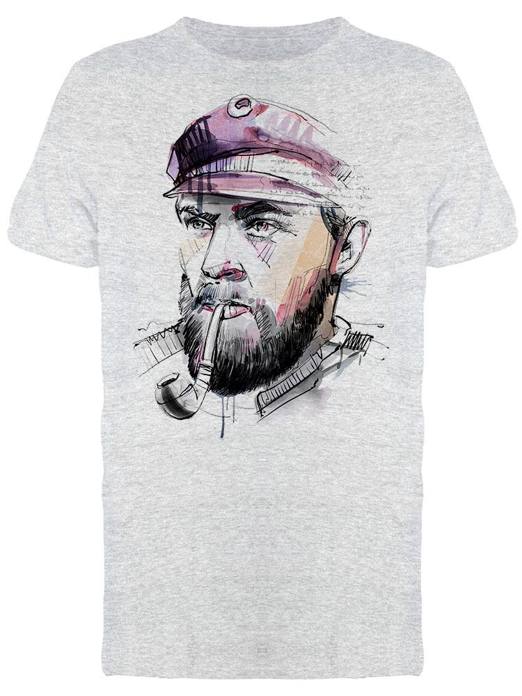 Captain With Pipe Graphic Tee Men's -Image by Shutterstock