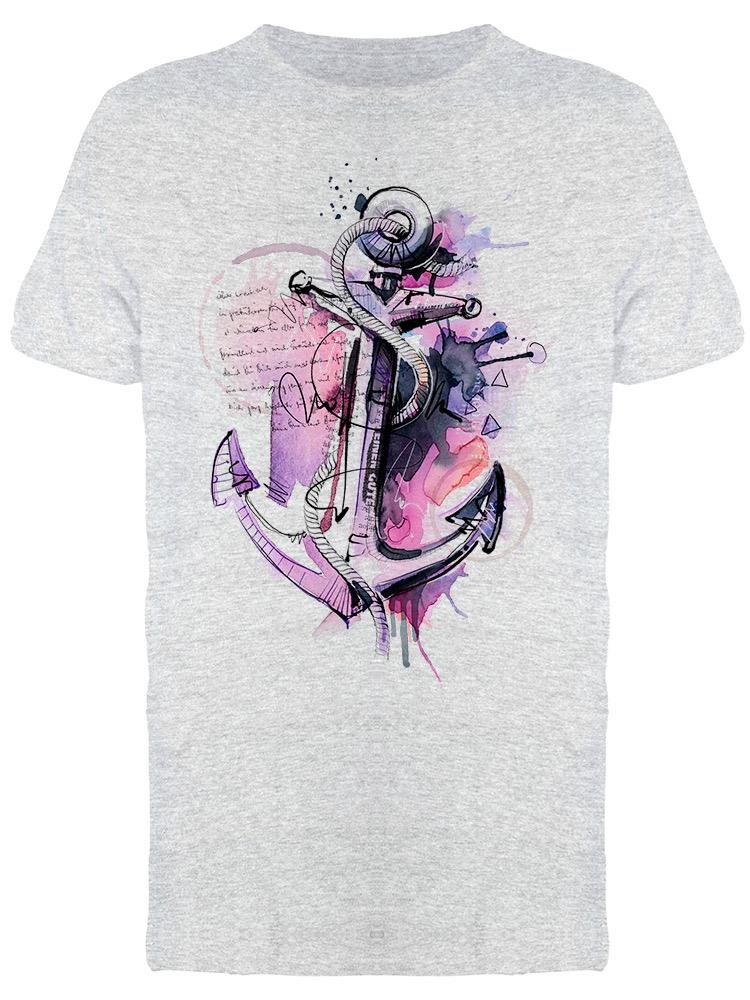 Hand Drawn Anchor Art Tee Men's -Image by Shutterstock