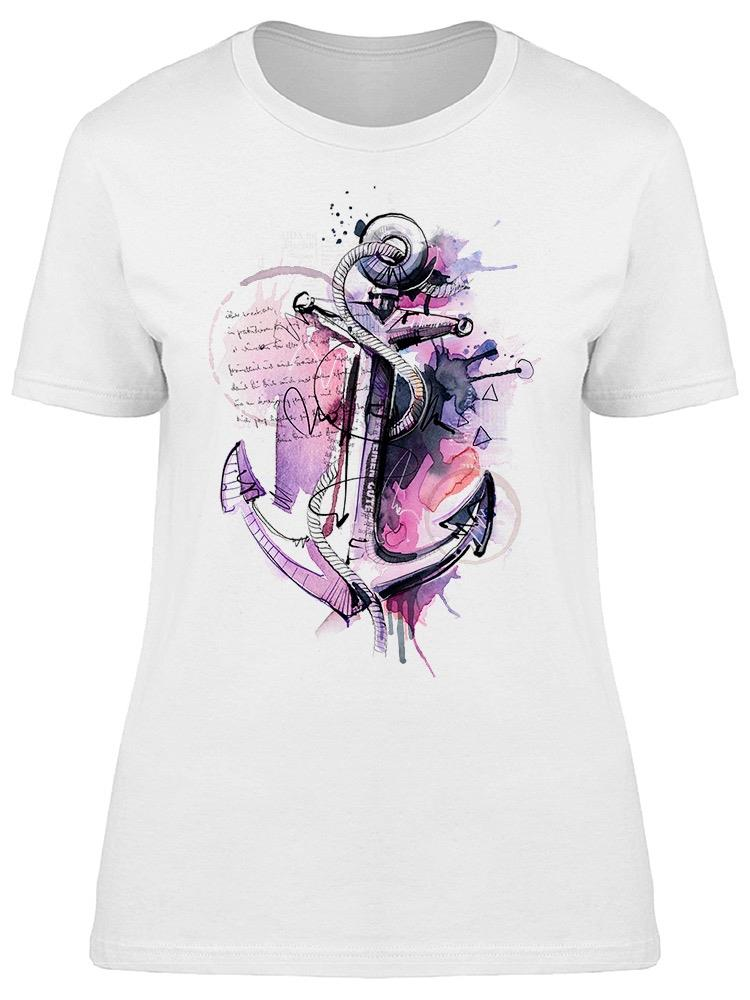 Hand Drawn Anchor Artistic Tee Women's -Image by Shutterstock